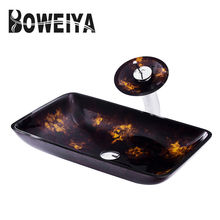 Hand Painted Vessel Sink Sanitary Counter Wash Basin For Bathroom