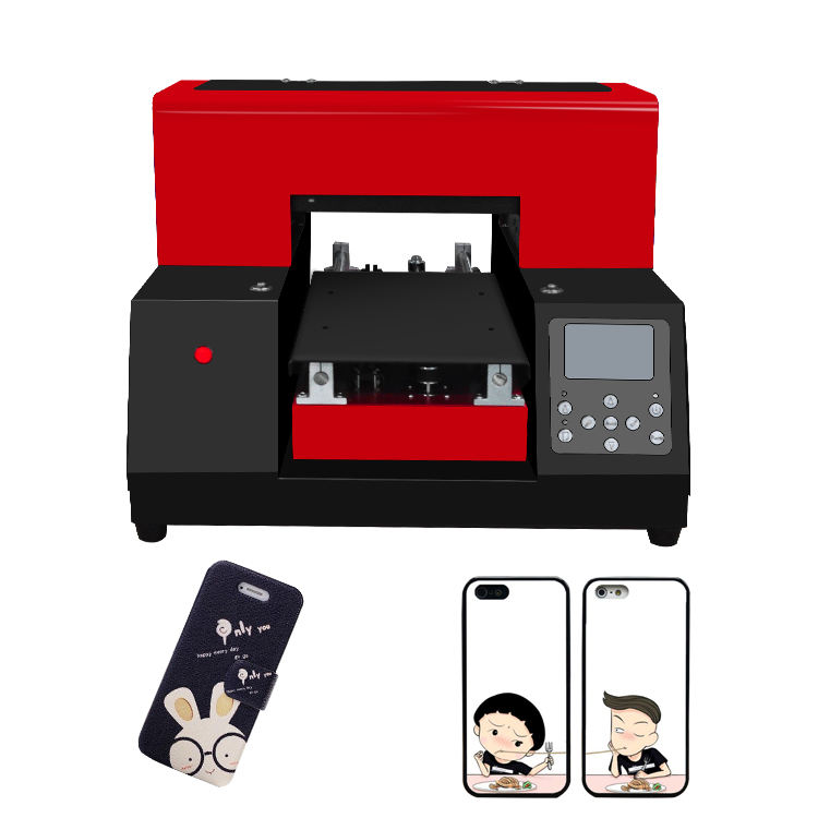 Smallest flatbad uv printer, A4 uv phone case printer made in China