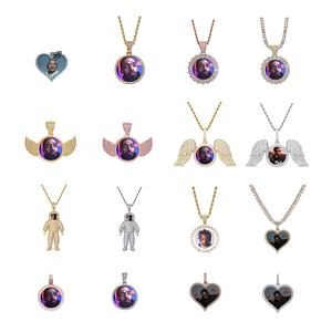 2020 Trend Custom Photo Woman Necklace Pendants For Men Fashion Hip Hop Jewelry Set