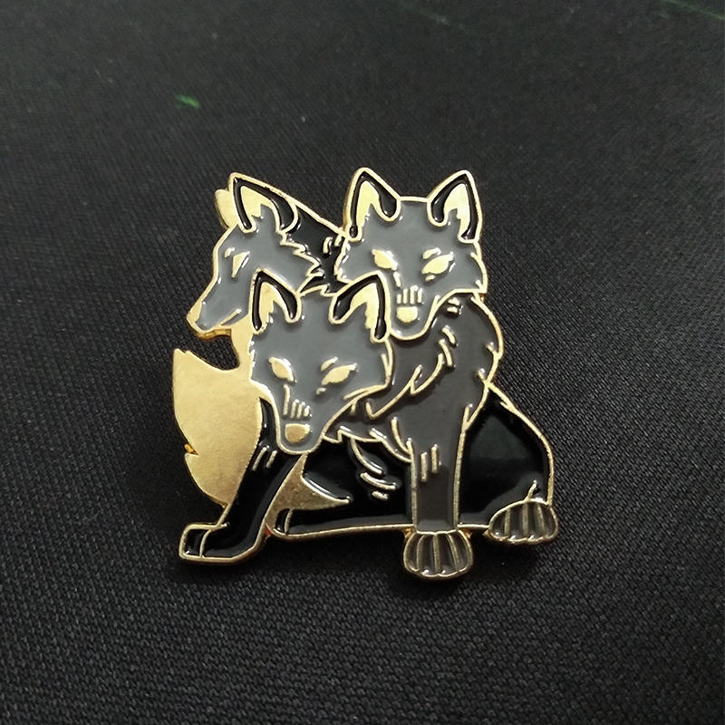 Cerberus Pins Ancient Greek Mythology Brooches Badges Metal Button Hard Enamel Pins Gifts for Friends Jewelry Wholesale
