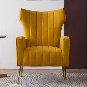 Latest Designs Wing back Tufted Velvet Wingback Accent Chair for Living Room