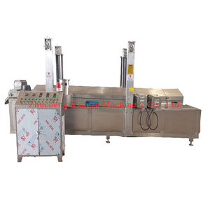 small commercial semi automatic gas electric continuous cassava french fries machine gas falafel machine frying price