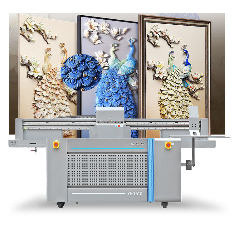 1610 Led Uv <span class=keywords><strong>Flatbed</strong></span> Printer Inkjet Industriële 3D <span class=keywords><strong>Flatbed</strong></span> Drukmachine Inkjet Printer