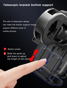 strong mount and clamp smart phone bicycle holder spring clip for bike phone holder
