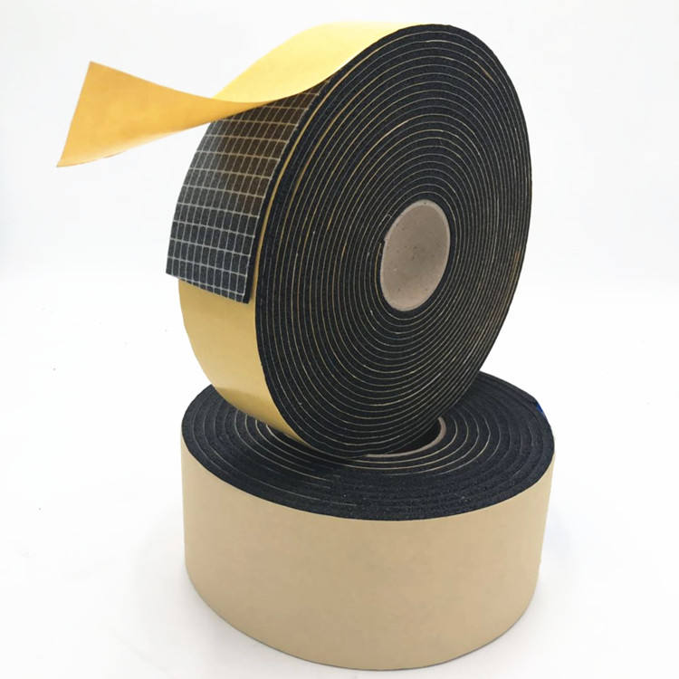 3M Waterproof 3mm thick single sided adhesive rubber foam tape insulation 1/2