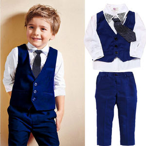 3pcs kids clothing formal party wear boy dress baby boy wedding suit