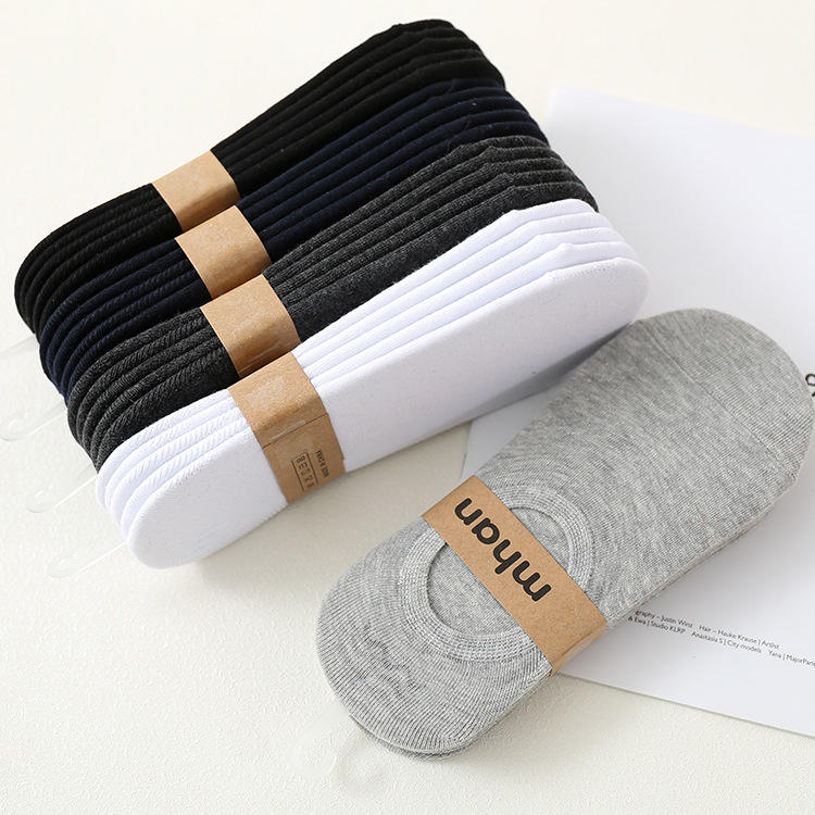 Custom spring summer no show solid white black cotton unisex breathable low cut ankle socks