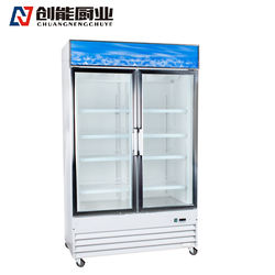 commercial deep vertical cold drink freezer for supermarket
