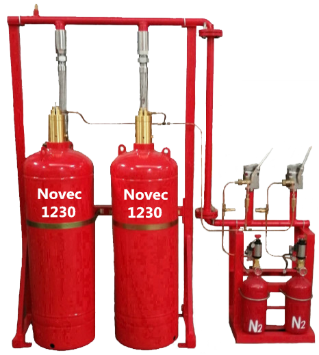 Clean Agent FK-5-1-12 Fire Fighting System with Stainless Steel Cylinder