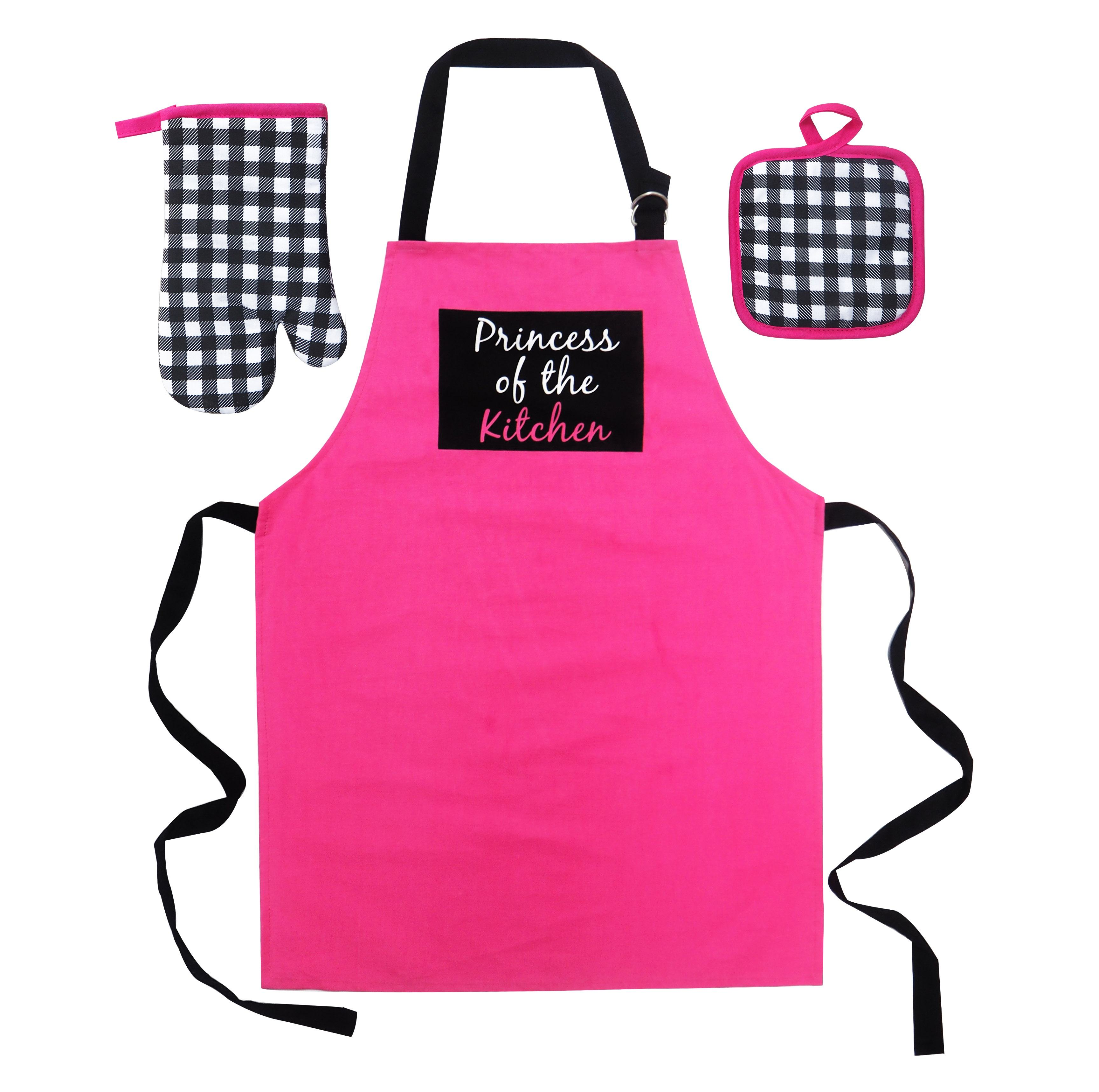Custom Kitchen Chef Apron Oven Gloves Pot Holder Set, Custom Kids Apron Size,Kitchen Cooking and Baking Wear