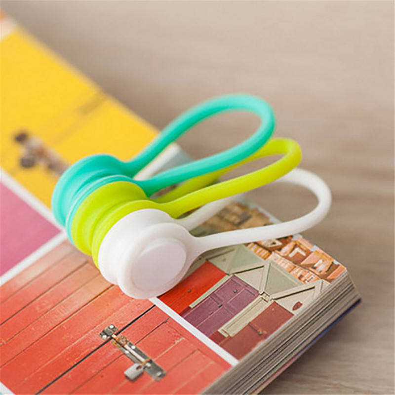 Silicone Magnetic Earphone Cord Winder Wire Cable Organizer Holder Magnet Headphones Winder Cables Storage Clips L0323-1