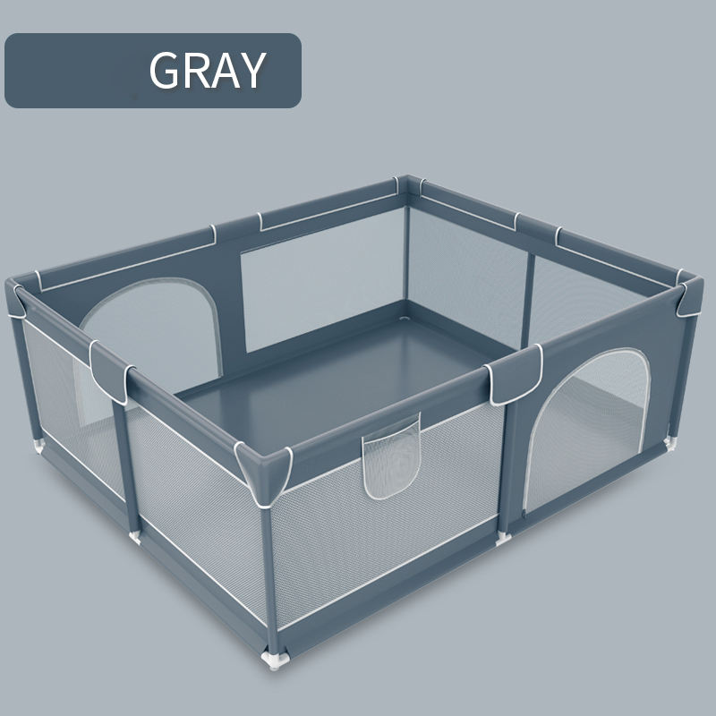 Gray Portable Kids Playpen Safety Play Center Yard Home Indoor Fence Baby Play Yard baby playpens