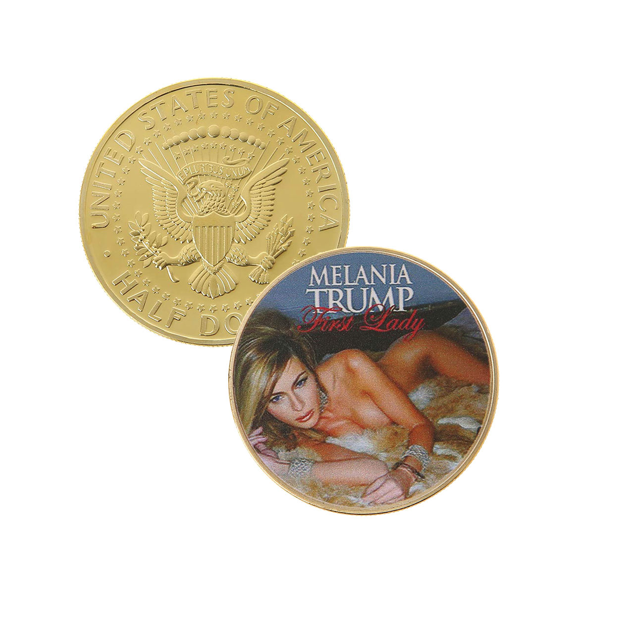 United States First Lady Melania Trump Challenge Coin Sexy Model Commemorative Coin Gold Silver