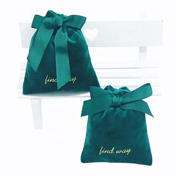 custom colorful pouches velvet jewelry, custom size small jewelry packaging velvet pouch bags