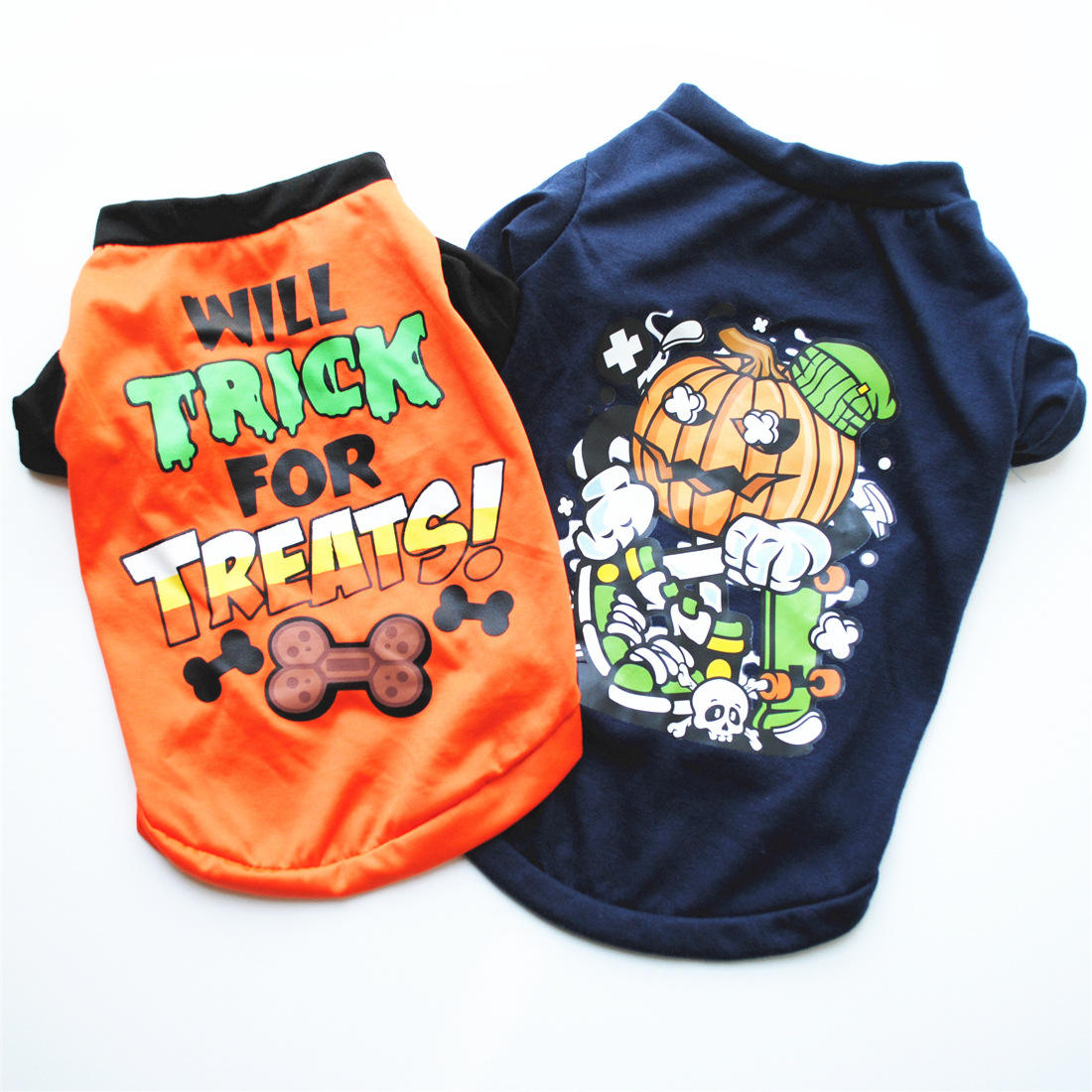 New Design pet Halloween clothes puppy clothes cotton T-shirts halloween costume dog in stock
