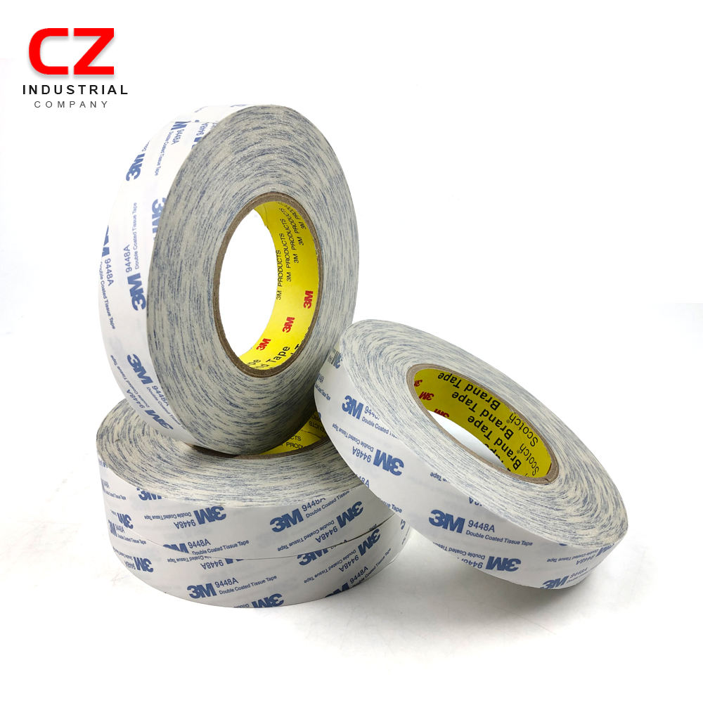 High performance 3M 9448A double sided non-woven tissue tape