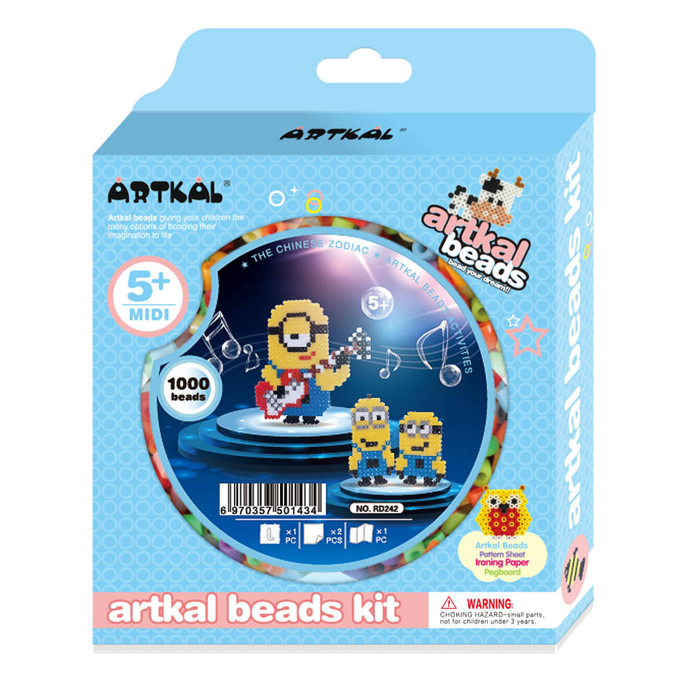 Nieuwe Ontwerp Perler Kralen Kits 5Mm Artkal Perler Kralen 5Mm Kids Games Smelten Zekering Kralen Cartoon Set