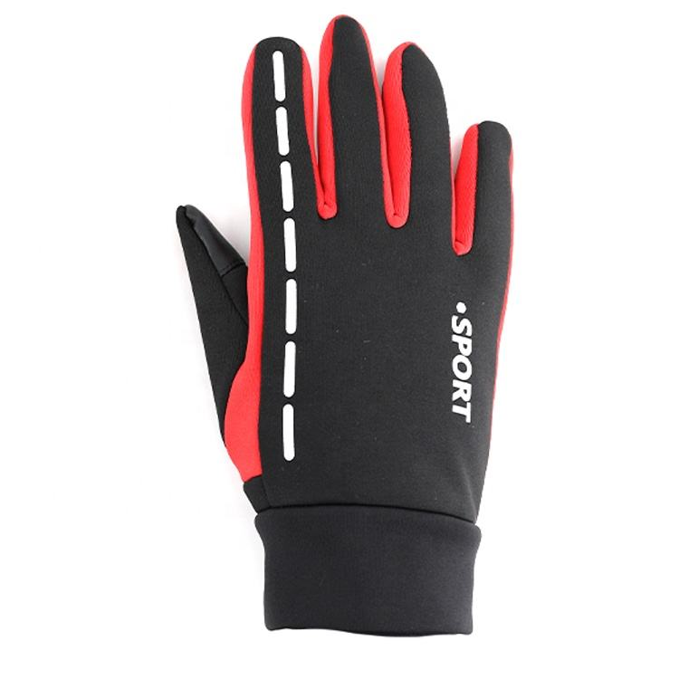 Breathable Bike Bicycle Hand Warm Thermal Windproof Warm Winter Anti Slip Full Finger Mountain Climbing Riding Gloves