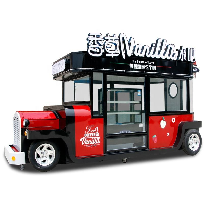 1 Year Warranty [ Car Food Cart ] Mobile Snack Cart Snack Car Mobile Ice Cream Food Cart Mobile Catering Trucks For Sale