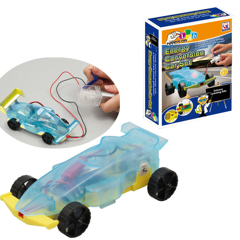 Huiye steam toys amazon Electric energy conversion car STEM toys science DIY electric car kids science kit
