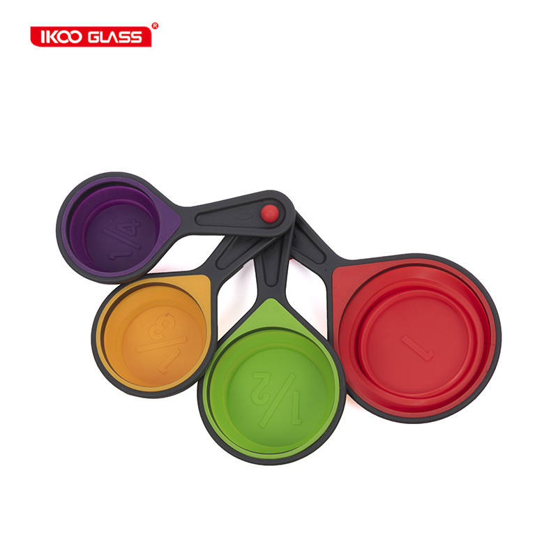 Kitchen measuring tools Collapsible silicon colorful measuring spoon set