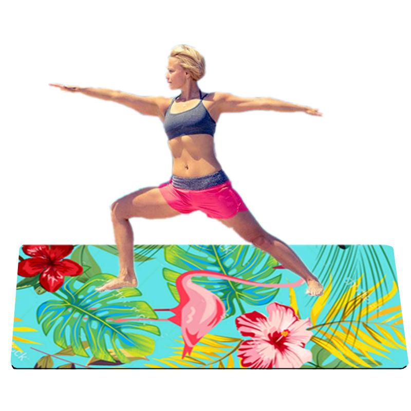 Приватная этикетка замша Обнаженная Йога секс противоскользящие йога коврик