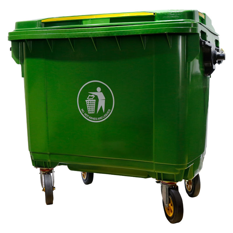 1100 litre plastic recycle waste bin wheeled garbage container rubbish bin