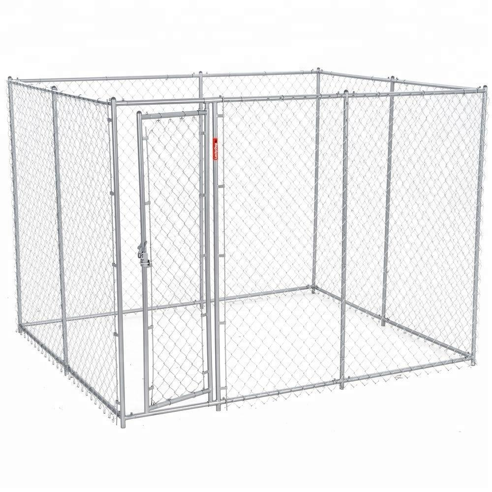 13ftx13ftx7. 5ft Outdoor Chain Link Fence Dog Cage Kennel