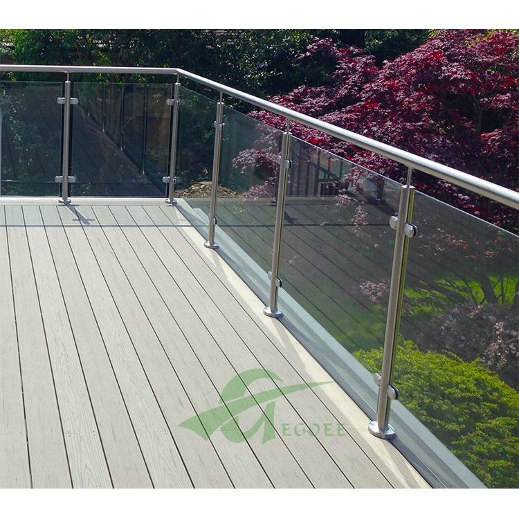 Outdoor handrail post stainless steel Glass Railing for balcony or fencing railing