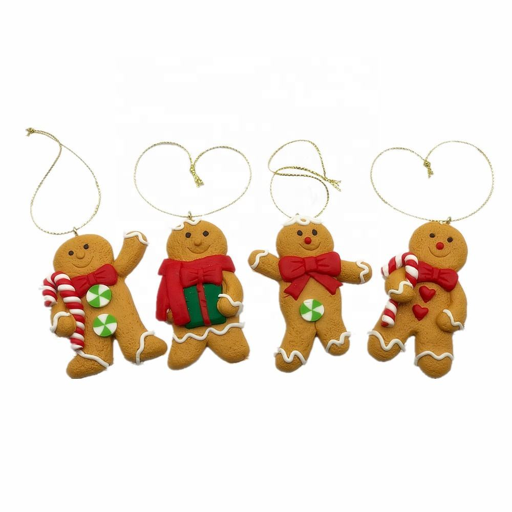 Wooden Gingerbread Man Personalised Christmas Gift Tag 80mm