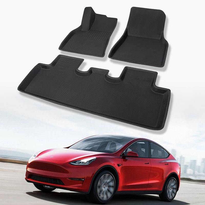 Luxe Custom Anti Slip 3d Tpr Tesla Model Y Automatten Vloer Waterdicht