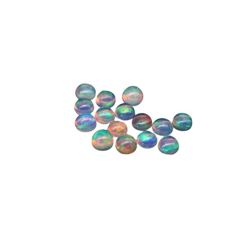 Kahkashan Jewelry Natural Opal round Loose Stone round cut 2mm 3mm 4mm 5mm 9mm for Jewelry Making For Wholesale 3mm-9mm Stock