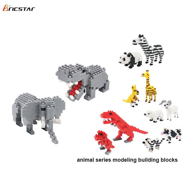 Bricstar top sale 2 in 1 3d animals mini blocks hot products plastic block brick set ,children's building blocks