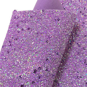 2020 Wholesale Shiny chunky glitter faux leather fabric for hair bow abd shoes