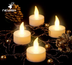 Kanlong China candle supplier cheap dia3.8cm flame flicker led tealight candle mini tea light for holiday day decor