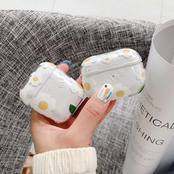 for Airpods pro small daisy hard shell suitable for airpods white flower earphone sleeve