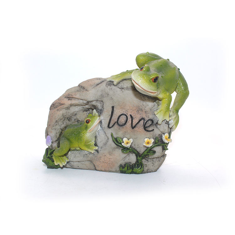 3D custom polyresin outdoor decoration handmade welcome frog statue