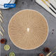 Hot selling christmas new designs placemats natural placemat rattan plastic paper table mats