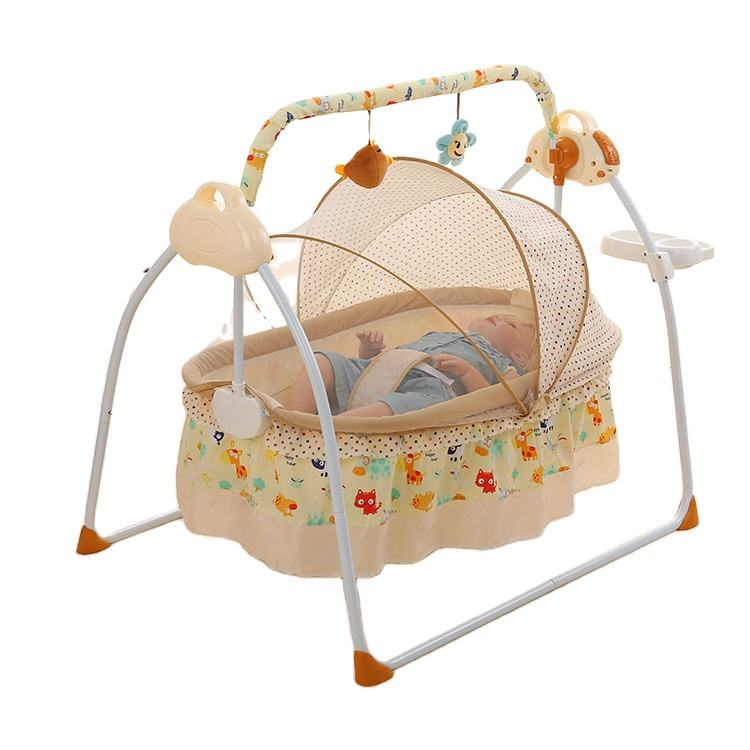 Electric cradle intelligent automatic baby bed cradle