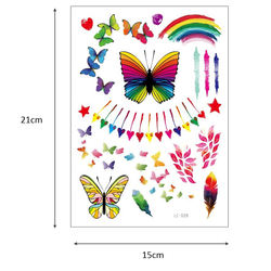 Rainbow design tattoo sticker makeup half arm tattoo  LC025-LC033