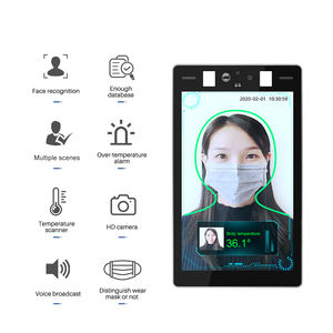 Stock Thermal Fever Detection Camera 8inch Face Recognition Body Temperature Monitoring System Access Control 26 Language