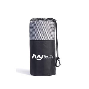 Custom good water absorption rally light weight gym towel with zip