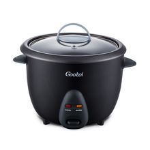 0.6L Electric Rice Cooker With Black Body and Glass Lid