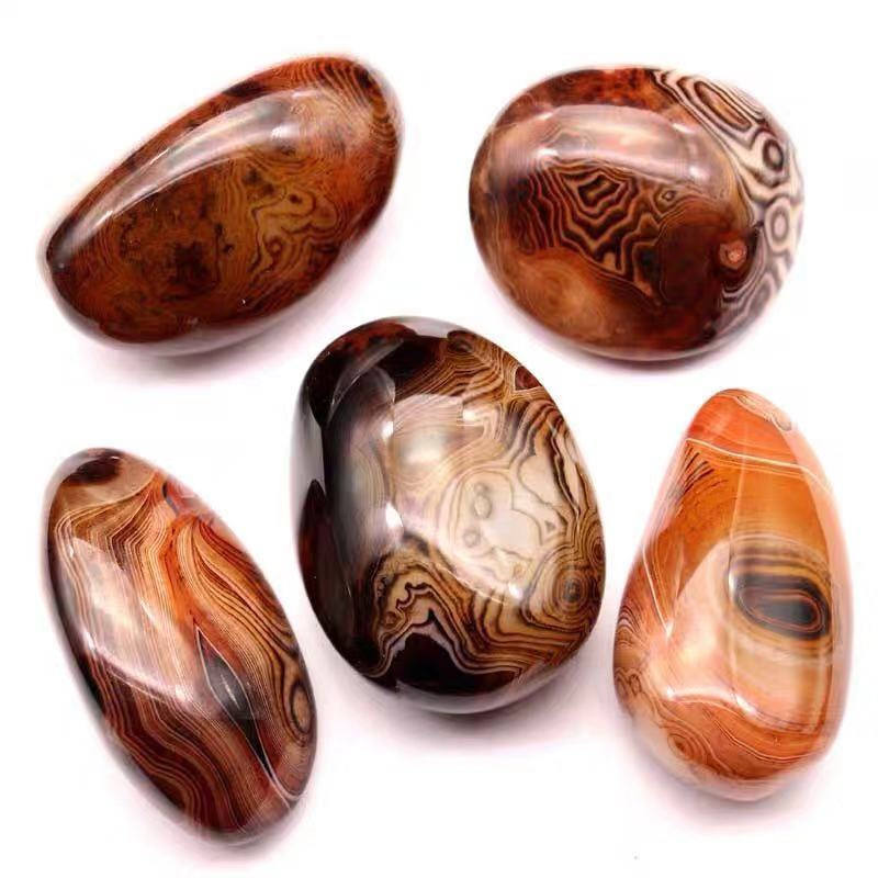 Wholesale Banded Agate Palm Stone Sardonyx tumbled stones Healing Crystal Stone Pebble Healing Crystals