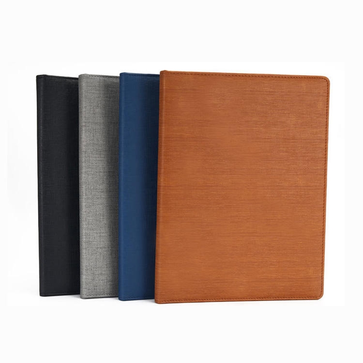 office supplies custom logo A4 leather padfolio portfolio clipboard file folder with calculator notebook