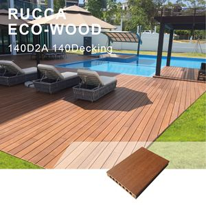 Foshan Ruccawood WPC Composiet Board/Waterdichte Houten Vloeren/WPC Outdoor Engineered Decking 140*25mm