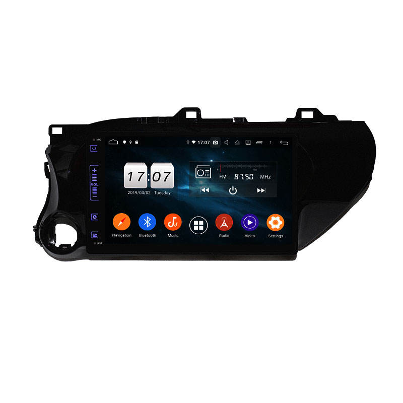 KD-1042 Hot selling Android 9 Auto Stereo Car Radio GPS For toyota Hilux 2016-2018 full touch screen with DSP function