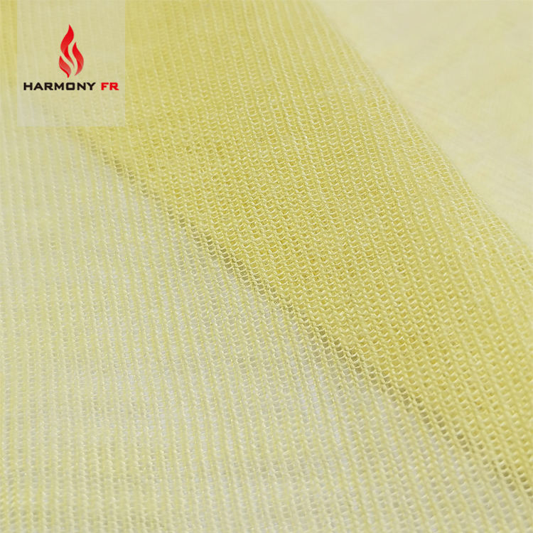 60gsm Knitted FR Heat Resistant 100% Para Aramid Kevlar Fabric