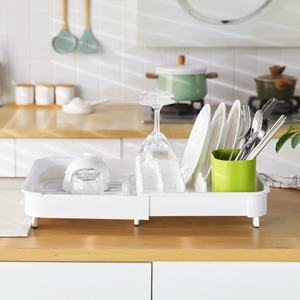 Plastic dish rack Dish Drying Rack Lightweight Self-Draining Dish Rack for Kitchen Sink and Counter at Home