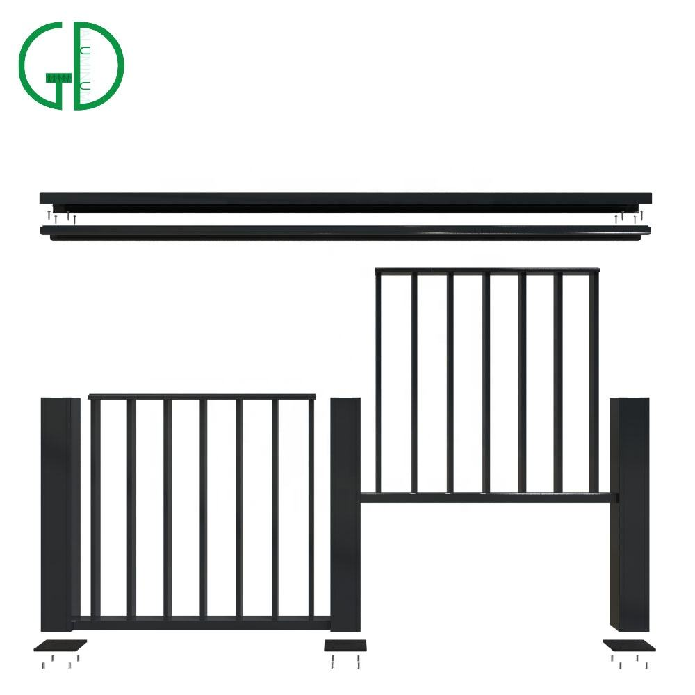 Gd Aluminium Moderne Glazen Balustrade Post Outdoor <span class=keywords><strong>Leuning</strong></span> Trap Baluster Dek <span class=keywords><strong>Wpc</strong></span> Led Balusters Balkon Reling